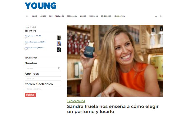 Sandra Iruela Revista Young